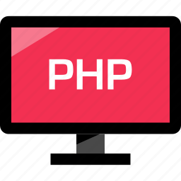 development, monitor, online, php, web icon