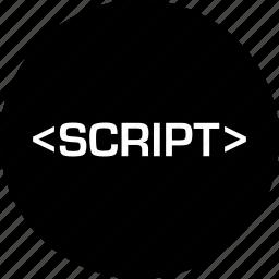 development, language, online, script, web icon