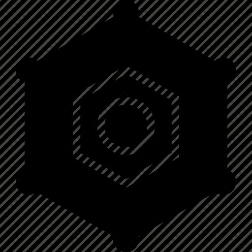 activity, browsing, eye, hexagon, internet, network icon