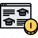 course, education, learning, lecture, online, payment, training icon