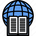 book, education, global, learning, online, planet, training icon
