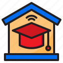 home, online, learning, degree, education, graduate