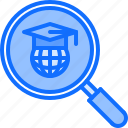 education, global, learning, online, planet, search, training icon