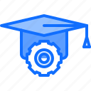 cap, education, gear, learning, online, optimization, training