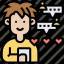 chat, online, message, communication, conversation