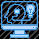 computer, humanities, idea, knowledge, lightbulb