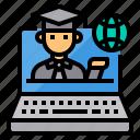 education, global, laptop, online, student