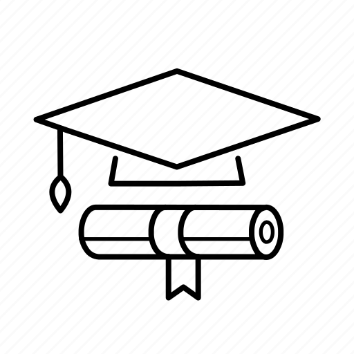 college, degree, diploma, education, elearning, online, university icon