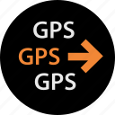 arrow, direction, go, gps, location, next, pin icon
