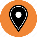 custom, direction, gps, locate, location, map, pin icon