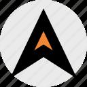arrow, direction, gps, location, pin icon