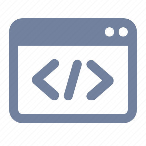 browser, code, page, programming, script, website, window icon