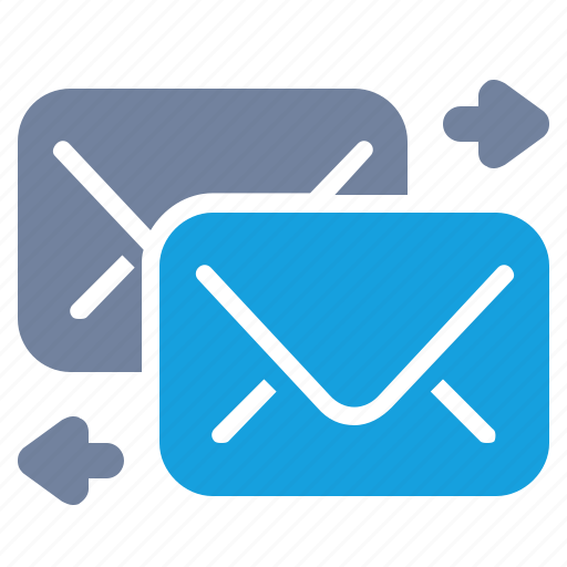 arrow, email, exchange, forward, mail, message, send icon