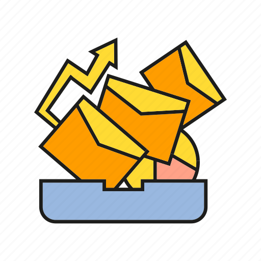 chart, email, letter, mail, marketing, mesage, send icon