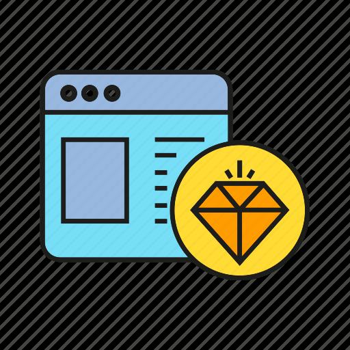 campaign, diamond, internet, online, web, www icon