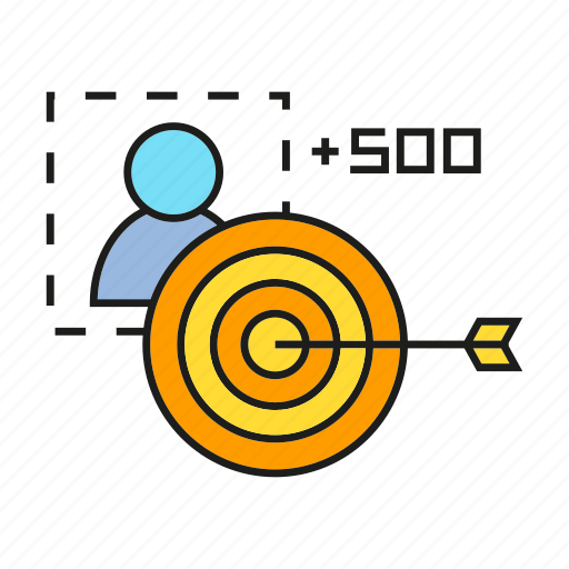 campaign, customer, dart, focus, goal, promotion, targer icon