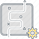action plan, strategy, tactics icon