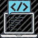 coding, custom, custom coding, programming, software programming, web development icon