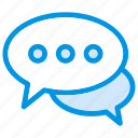 bubble, bubblechat, chat, conversation, message, speech, talk icon