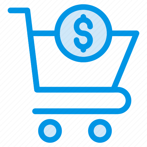 buy, cart, checkout, coin, dollar, shopping, trolley icon