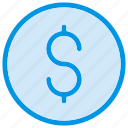 cash, coin, dollar, finance, fund, money, payment icon