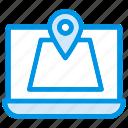 map, pin, point, navigate, laptop, computer, online