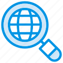 web, search, global, solution, internet, magnifier, browser