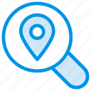 find, location, magnifier, map, pin, search, searchmap