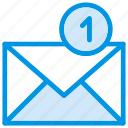 email, envelope, mail, message, notification, statement, unread icon