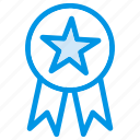 achievement, award, awards, badge, medal, ribbon, star icon