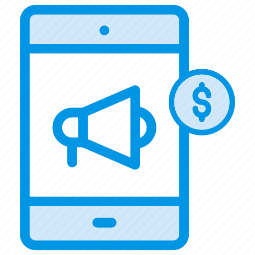advertisment, announcement, loud, loudspeaker, megaphone, smartphone, speaker icon