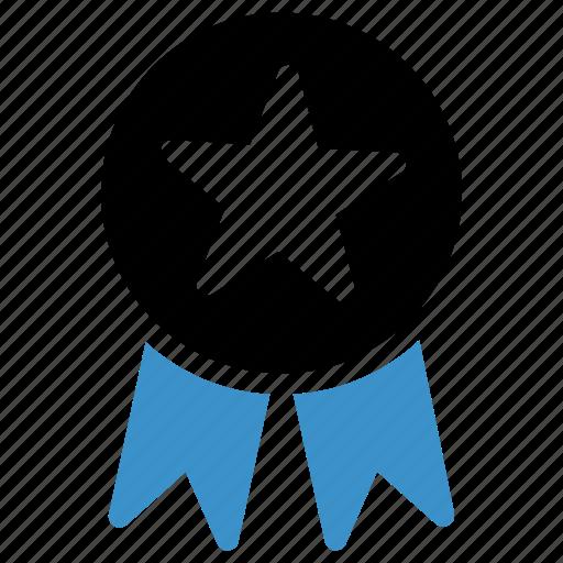 achievement, award, awards, badge, medal, ribbon, star icon