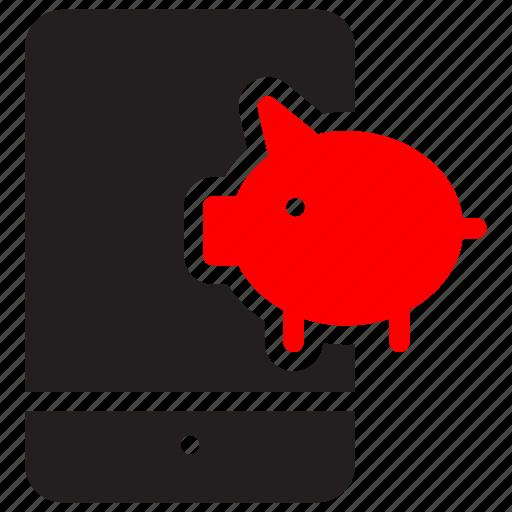 bank, banker, digitalbanking, ebanking, finance, mobile, online icon
