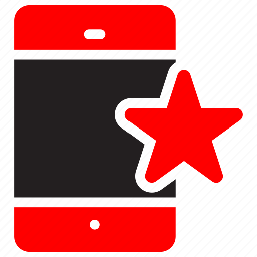cell, device, favourite, iphone, mobile, smartphone, star icon