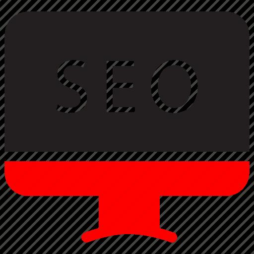 communication, device, marketing, monitor, optimization, seo, service icon