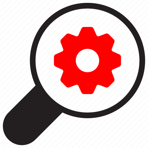 Search, business, zoom, setting, cog, magnifier, magnifying icon