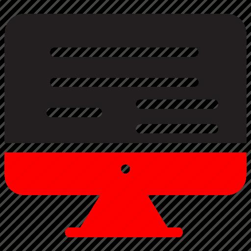 computer, digitaltv, marketing, media, monitor, screen, television icon