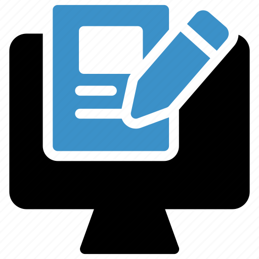 Pencil, marketing, online, research, content, internet, writing icon