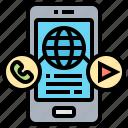 application, communication, connection, media, social