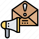 advertising, alert, email, message, spam