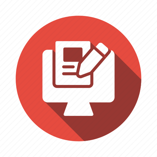 content, internet, marketing, online, pencil, research, writing icon