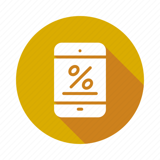Discount, interest, mobile, offer, percentage, phone, sale icon - Download on Iconfinder
