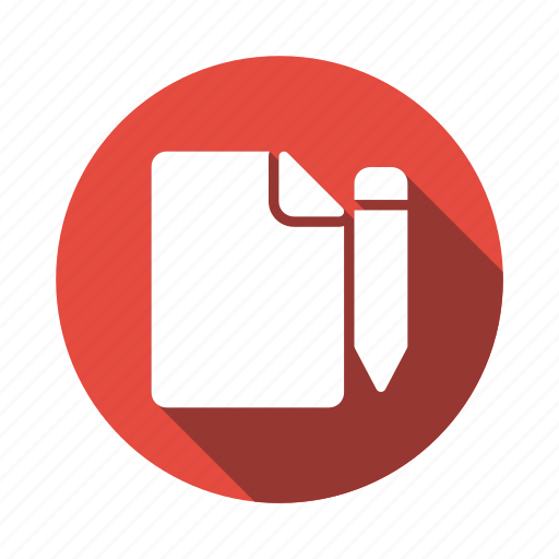 document, draft, edit, file, format, pencil, write icon