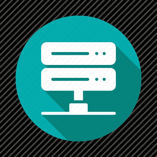 communication, computing, data, database, device, network, server icon