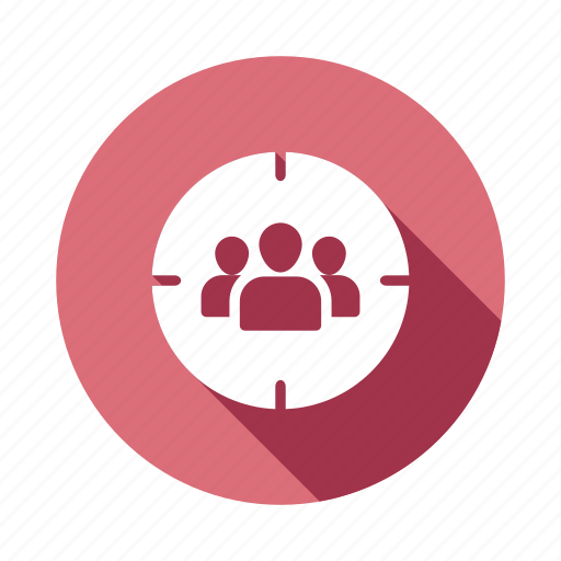 audience, customers, focusgroup, people, target, users, userstarget icon