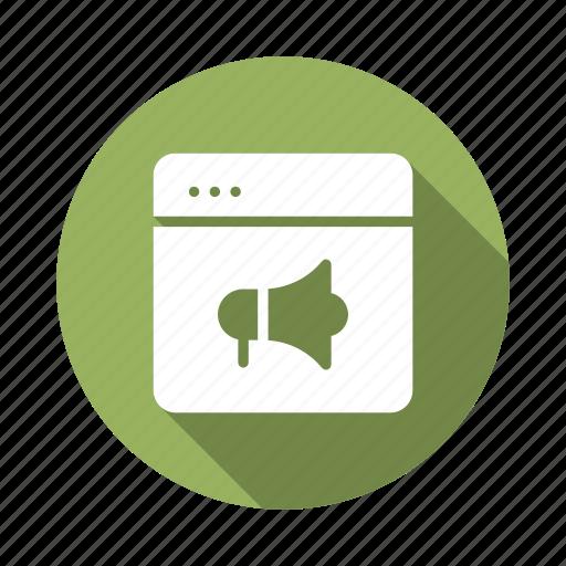 campaign, marketing, megaphone, optimization, promotion, site, web icon