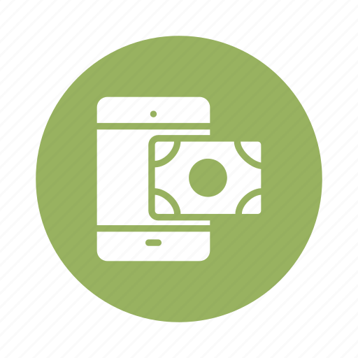 banking, business, mobile, money, payment, phone, transaction icon