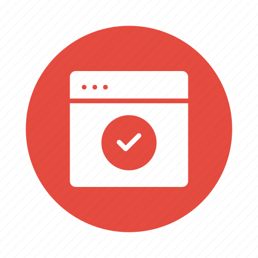 Browser, check, checkbox, marks, tick, web, website icon - Download on Iconfinder