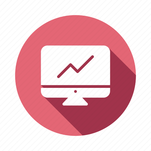 chart, data, graph, linegraph, online, report, web icon
