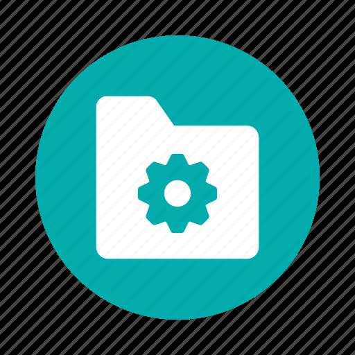 editfolder, folder, gear, network, options, setting, system icon